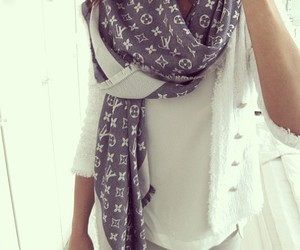 fashion, scarf, and Louis Vuitton image