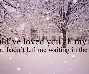 quote, love, and cold image
