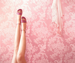 pink, legs, and shoes image