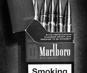 marlboro, smoke, and cigarette image