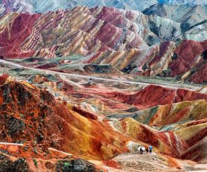 china, zhangye danxia, and mountains image
