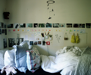 room, bed, and photo image