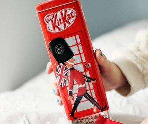 chocolate, london, and kit kat image