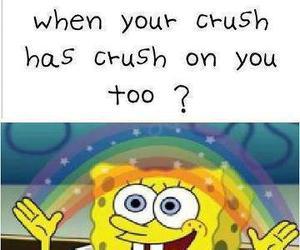 crush, imagination, and spongebob image