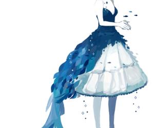 anime, blue, and anime girl image