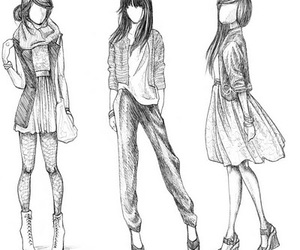 fashion, drawing, and draw image