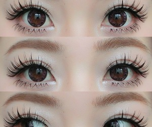 eyes, kawaii, and make up image
