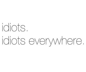 idiot, quotes, and everywhere image