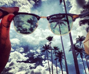 sky, summer, and sunglasses image