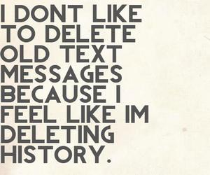 history, text, and delete image