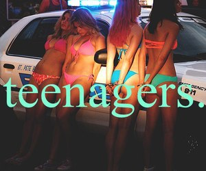 teenager, selena gomez, and spring breakers image