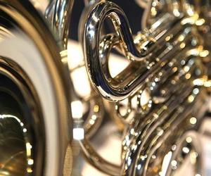 instrument, music, and trumpet image