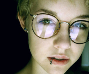 glasses, piercing, and girl image