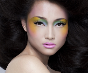 colorful, hair, and headshot image