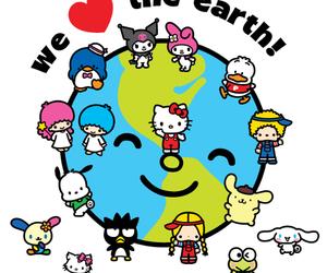 sanrio, hello kitty, and kuromi image