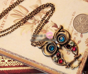 owl, jewelry, and necklace image
