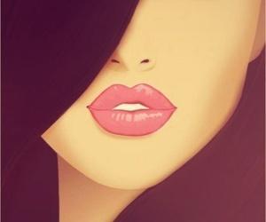 lips, eyes, and art image
