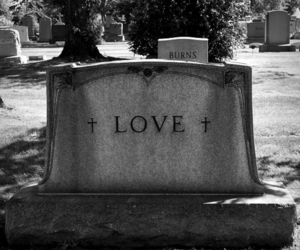 love, black and white, and death image
