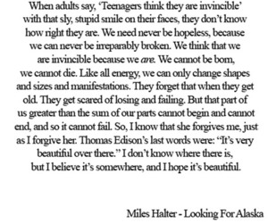 beautiful, john green, and quote image