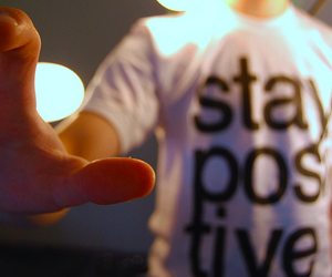 stay positive, shirt, and boy image