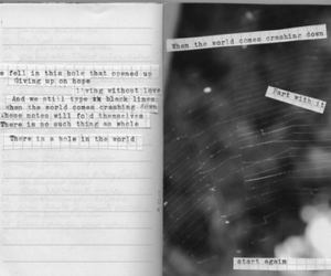 journal, spiderweb, and text image
