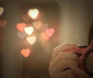 camera, photography, and hearts image