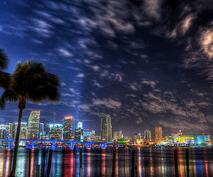 Miami, city, and sky image