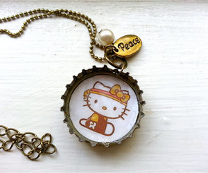 bracelet, hello kitty, and rings image