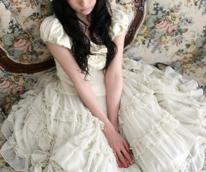floral, girl, and lolita image