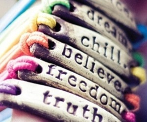 bracelets, simple, and girly image