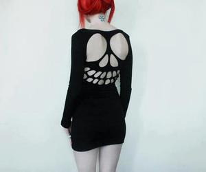 girl, skull, and style image