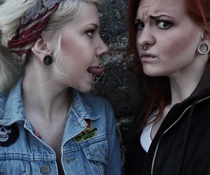 piercing, girl, and friends image
