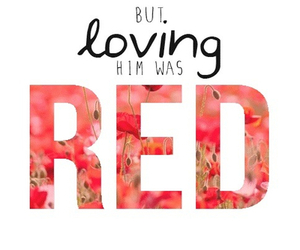 red, love, and Taylor Swift image