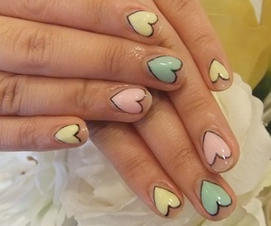 nails, heart, and cute image