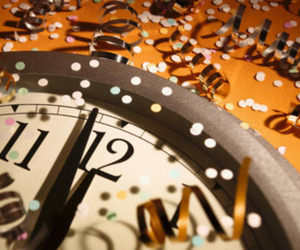 clock, new year, and party image