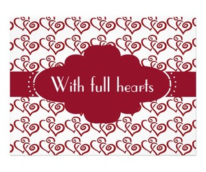 heart, heart wedding invitation, and red hearts image