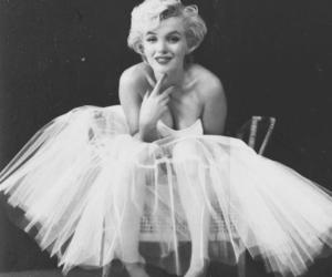 Marilyn Monroe, black and white, and dress image