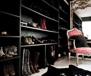 shoes, closet, and chair image