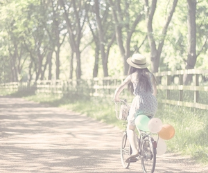 balloon, bicycle, and Elle image