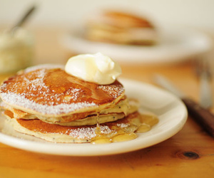 food, pancakes, and butter image