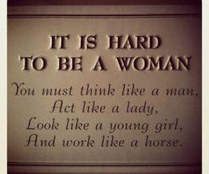 text, woman, and work image