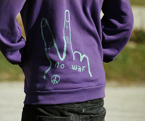 peace, purple, and boy image