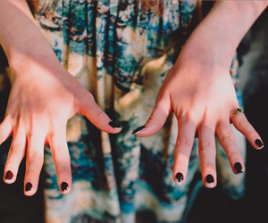 nails, hands, and vintage image