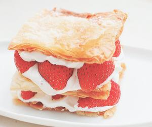 strawberry, food, and dessert image