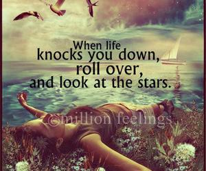 quote, life, and stars image