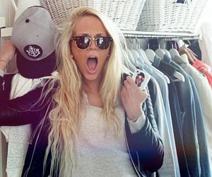 sunglasses, fashion, and long hair image
