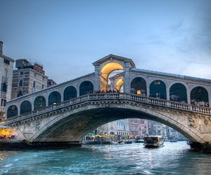 bridge, grand canal, and venice image