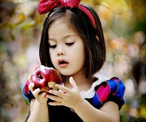 apple, girl, and little image