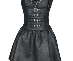 black, leather, and clothing image