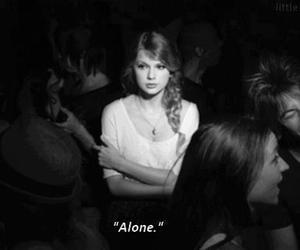 alone, Taylor Swift, and black and white image